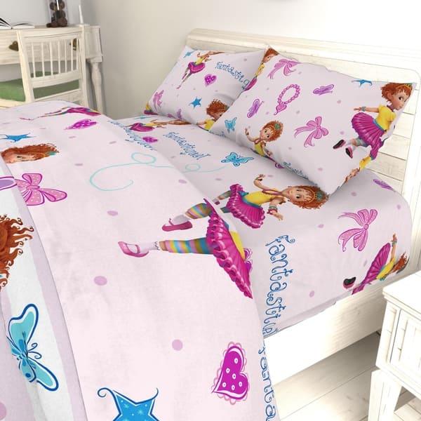 Disney Fancy Nancy Fantastique 4 Piece Twin Bed Set Overstock 23119204