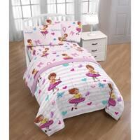 Disney Fancy Nancy Fantastique 4 Piece Twin Bed Set