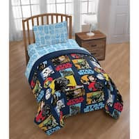 Star Wars Galactic Grid Reversible Twin Comforter