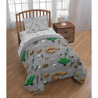 Minecraft Survive Reversible Twin Comforter