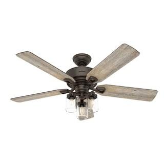 Hunter Fan Devon Park Onyx Bengal Barnwood Walnut Blades 52-inch Reversible Ceiling Fan