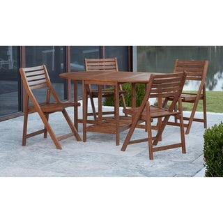 Avenue Greene Patio 5 Piece Dining Table and Chair Set with Storage