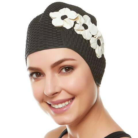 Beemo Ladies Swim Cap Latex Vintage Style Shower Bathing Waterproof Headcovers