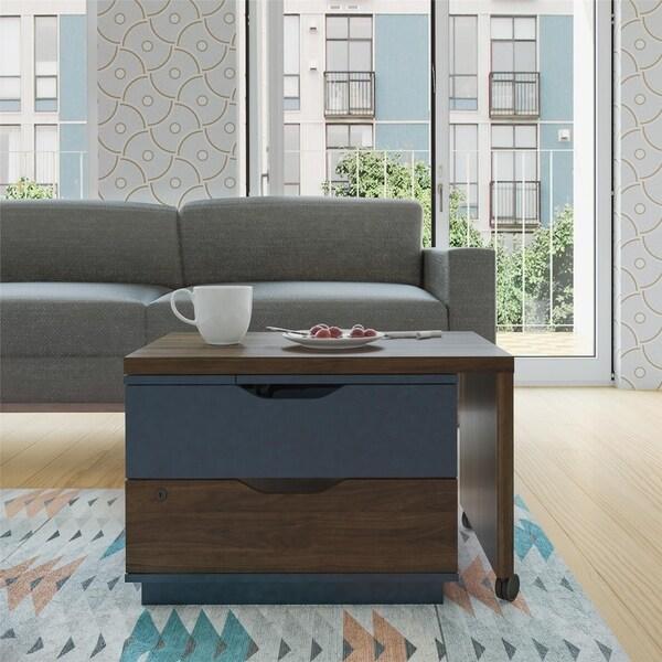 Novogratz Xavier Walnut Lift Top Swivel Coffee Table 7 X27 6 X