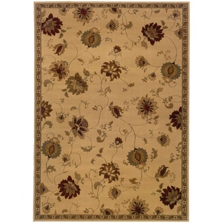 """Rectangle Rug/ Amelia 5 Ft. 0 In. X  7 Ft. 6 In./ Casual/ Floral - 5' 0"""" x  7' 6"""""""