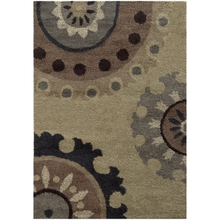 """Rectangle Rug/ Covington 5 Ft. 3 In. X  7 Ft. 6 In./ Shag/ Floral - 5' 3"""" x  7' 6"""""""