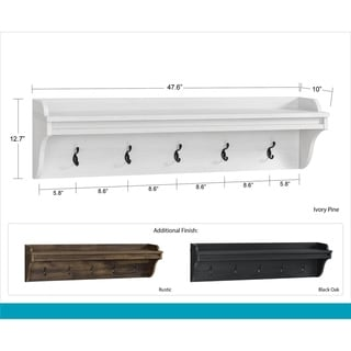 Avenue Greene Becken Ridge Hanging Coat Rack - 8' x 11'