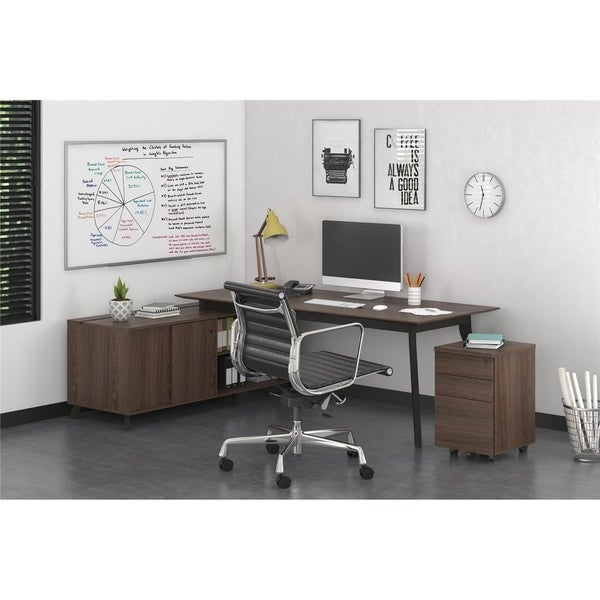 Magnificent Shop Ameriwood Home Ax1 Medium Brown L Shape Desk And Mobile Download Free Architecture Designs Licukmadebymaigaardcom