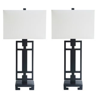 Black Matte Finish Table Lamp Set of 2 - 31 inch