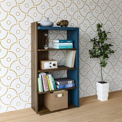 Novogratz Xavier Walnut 5 Shelf Bookcase
