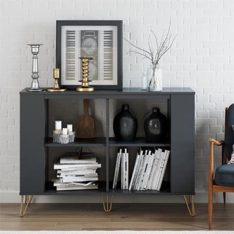 """Novogratz Owen 3 Shelf Bookcase - 7'7"""" x 10'5"""""""