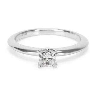 Pre-Owned Tiffany & Co. Diamond Engagement Ring in Platinum 0.27 ctw