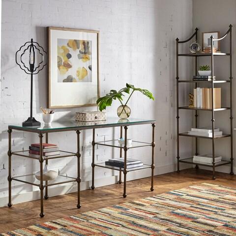 Harper Blvd Hortin Bronze Glass Top Writing Desk