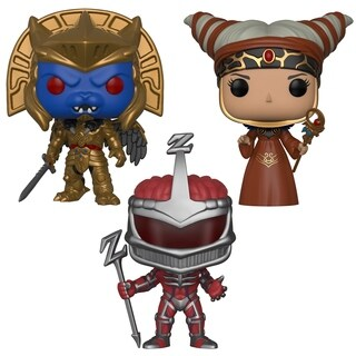 Funko POP! TV Power Rangers Series 7 Villians Collectors Set - Rita Repulsa, Goldar, Lord Zedd