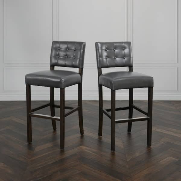 Fabulous Shop Elena Leather Bar Stool By Kosas Home 41 5Hx18Wx16D Andrewgaddart Wooden Chair Designs For Living Room Andrewgaddartcom