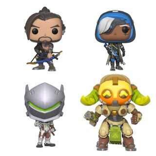 "Funko POP! Games Overwatch Series 4 Collectors Set - Hanzo, Genji, Ana, 6"" Orisa"