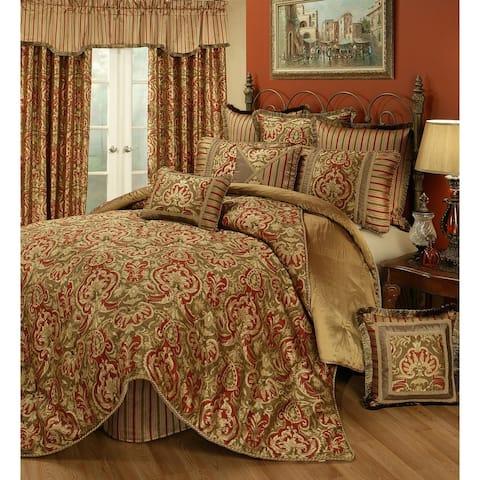 PCHF Botticelli Rust 3-piece Luxury Comforter Set