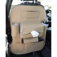 Car Seat Back Organizer Storage & Backseat Tablet, Phone, Beverage Holder