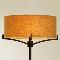 Tracy Floor Lamp with 2-light Linen Drum Shade (Edison Bulbs Included)