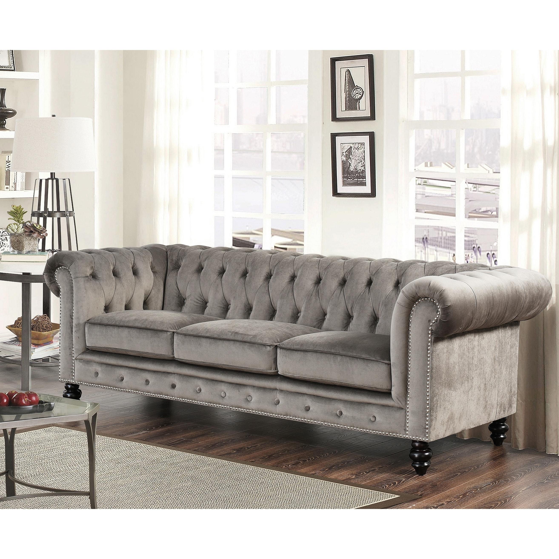 Grey Velvet Living Room Furniture Find Great Deals Ping At