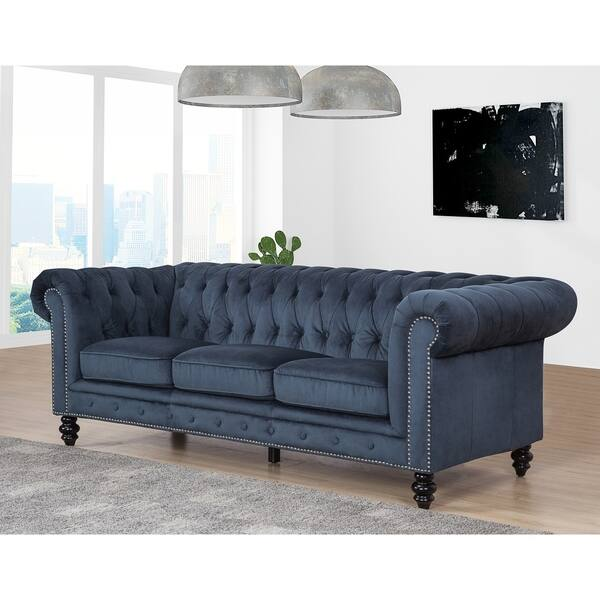 Shop Gracewood Hollow Dib Grey Velvet Sofa - On Sale - Free ...