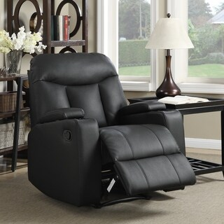 Clay Alder Home Klingle Black Synthetic Leather Recliner