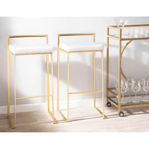 Silver Orchid Forrest Gold Stackable Bar Stools (Set of 2)