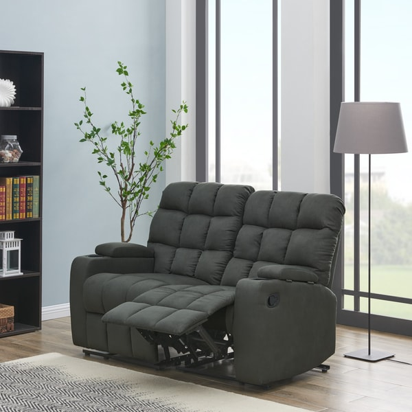 Copper Grove Bielefeld Grey 2-seat Reclining Storage Loveseat - 2 Seat - 2 Seat. Opens flyout.