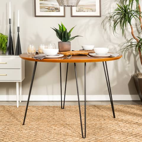 Carson Carrington Ringe 46-inch Round Hairpin Leg Dining Table