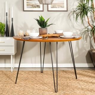 Carson Carrington Ringe 46-inch Round Hairpin Leg Dining Table - 46 x 46 x 30h
