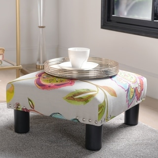 The Curated Nomad Stardust Square Accent Ottoman