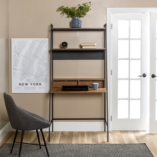 Carbon Loft Lahuri Metal and Wood Ladder Desk