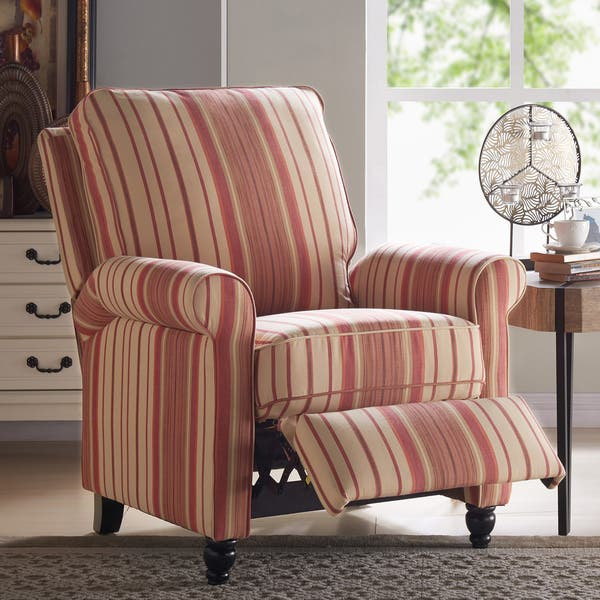 Excellent Shop Copper Grove Sumter Striped Push Back Recliner Chair Ocoug Best Dining Table And Chair Ideas Images Ocougorg