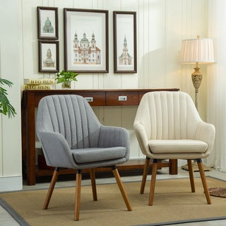 Link to Carson Carrington Fellingsbro Pleated Fabric Accent Chair Similar Items in Accent Chairs
