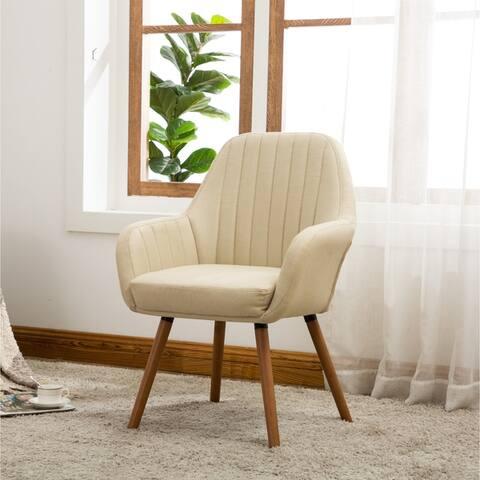 Carson Carrington Fellingsbro Pleated Fabric Accent Chair