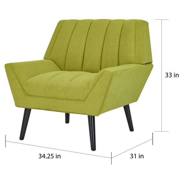 Carson Carrington Mariager Mid-century Modern Green Velvet Arm Chair