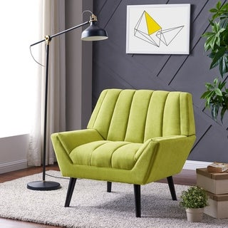 Link to Carson Carrington Mariager Mid-century Modern Green Velvet Arm Chair Similar Items in Living Room Chairs