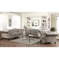 Gracewood Hollow Dib Velvet-3 Piece Living Room Set