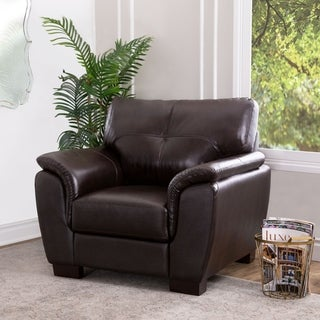 Copper Grove Bleckede Brown Leather Armchair