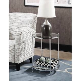 Silver Orchid Farrar 2-tier Round End Table