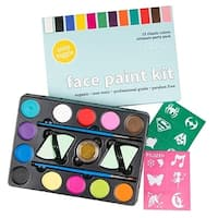 All-Natural, Organic Face Painting Kit for Kids or Adults - Classic Colors