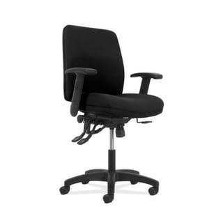 HON Network Mid-Back Task Chair - Asynchronous Computer Chair for Office Desk, Black Fabric (HONVL282A2VA10T)