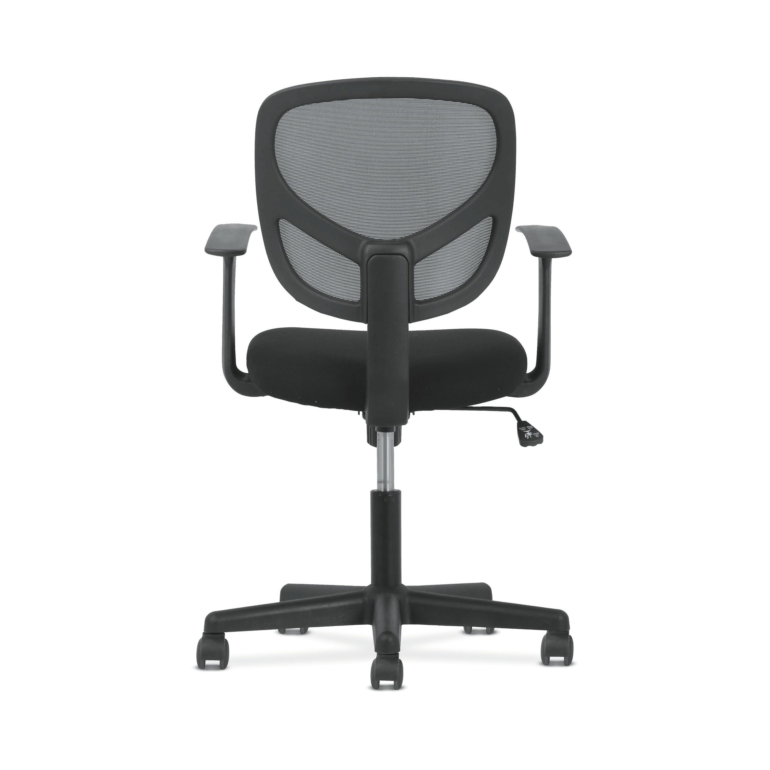 Sadie Swivel Mid Back Mesh Task Chair Without Arms Ergonomic Computer Office Chair Black Bsxvst101