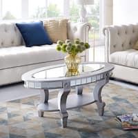 Harper Blvd Lindberg Oval Silver Mirrored Coffee Table