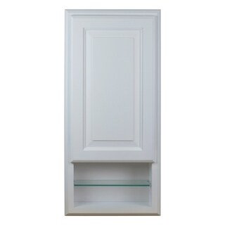 Recessed Baldwin Open Shelf White Medicine Storage Cabinet 3.5 In. Deep