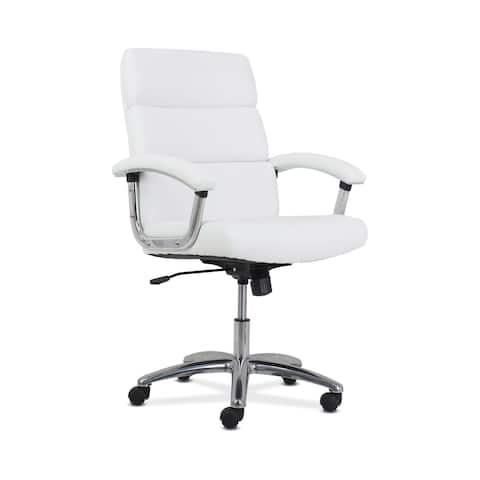 HON Traction High-Back Modern Leather Computer Chair, White (HONVL103)