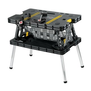 Keter Portable Folding Compact Workbench Work Table with Clamps