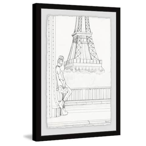 Handmade Sketch of Eiffel Framed Print