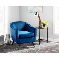 Rockwell Contemporary-Glam Velvet Upholstered Accent Chair