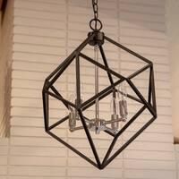 Alexa Metal Geometric 4-Light Pendant